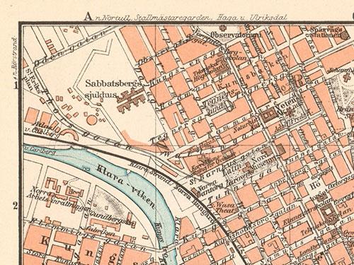 kart over stockholm Opptrykk kart over Stockholm anno 1897 | Kuriosart kart over stockholm