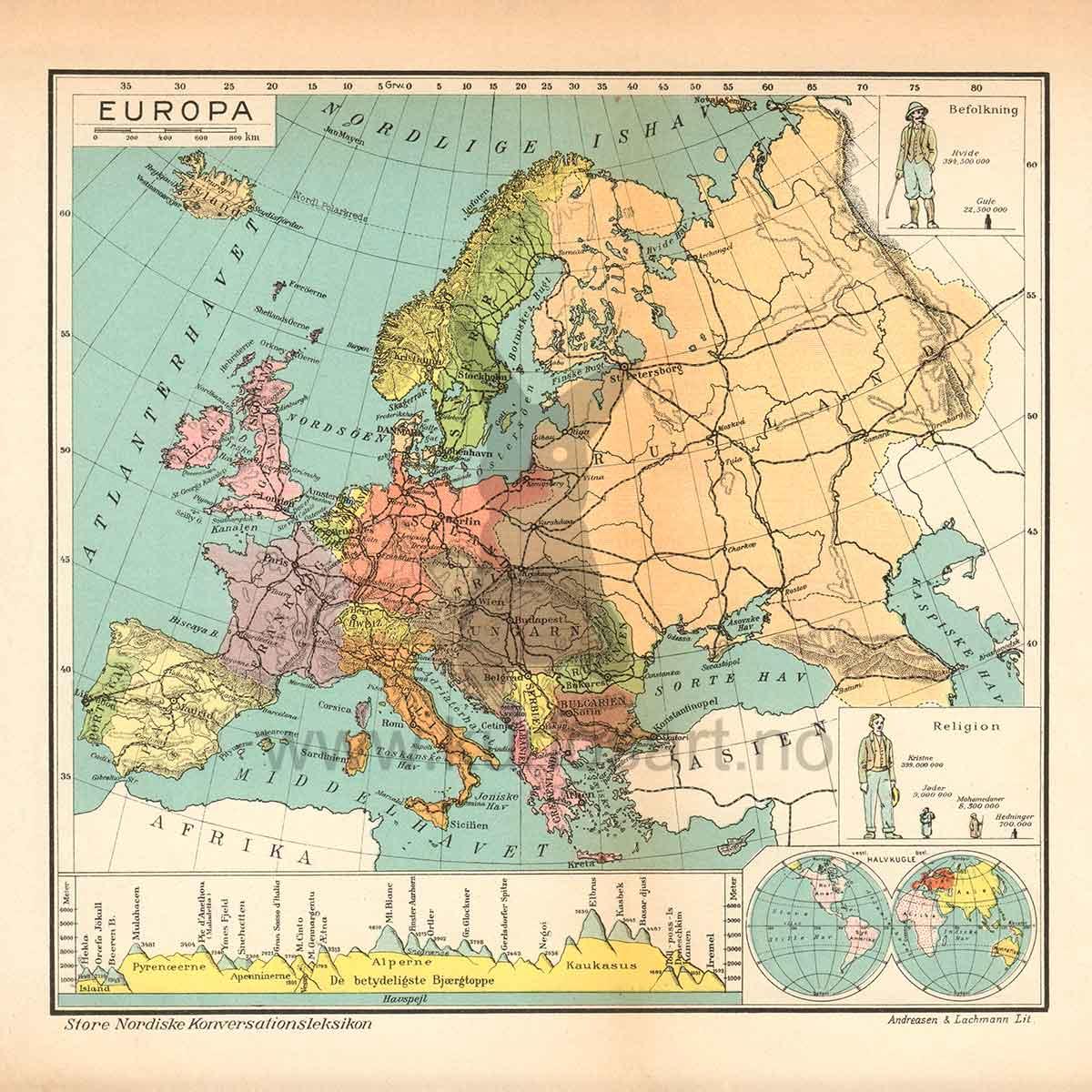 verdensdeler kart 6 Kart over verdensdeler, Opptrykk | Kuriosart verdensdeler kart